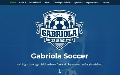 Gabriola Soccer Association Launches New Website!